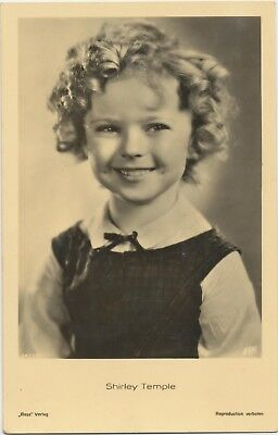 RARE! Shirley Temple Antique Vintage Original Ross Verlag Photo Postcard RPPC 03