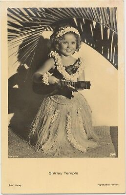 RARE! Shirley Temple Antique Vintage Original Ross Verlag Photo Postcard RPPC 09