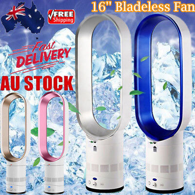 NEW 16'' Bladeless Fan With Remote Control AirFlow Cooling Low db Home Office AU