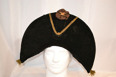 Antique Vintage Us Early 19Th Century War Of 1812 Artillery Cocked Bicorne Hat