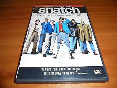 Snatch (DVD, 2001, 2-Disc Widescreen Special Edition) Brad Pitt Used