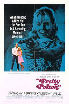 RARE 16mm Feature: PRETTY POISON (AGFA LOW FADE) ANTHONY PERKINS / TUESDAY WELD