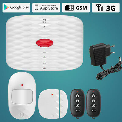 Wolf-Guard 3G GSM Wireless home security alarm system SOS Infrared detector