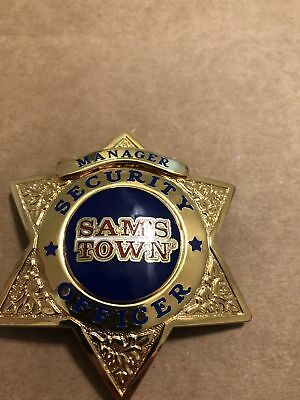 OBSOLETE Prototype sam's town casino Security badge