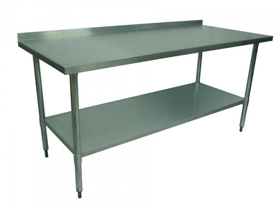 1000 x 700mm STAINLESS STEEL #304 COMMERCIAL FOOD PREP WORK BENCH W/ SPLASH BACK
