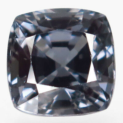 2.5ct.Magnificent Gem! 100%Natural Silver Blue Spinel Unheated 7.5mm.AA Nr!.
