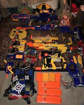 Nerf Guns - Lot Of 11 - Excellent Condition
