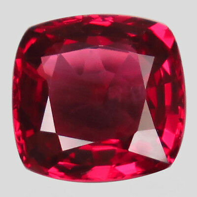 0.9ct.Dazzling Gem! 100%Natural Top Pinkish Red Spinel Unheated 6mm.AAA Nr!.