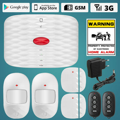 Wolf-Guard GSM SMS Wireless Home Alarm Security System SOS IOS Andriod Control