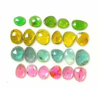 14.90 Cts.100% Natural 23 Psc. Faceted Multi Tourmaline Rose Cut Gemstone YY140