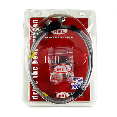 REAR HEL Performance Braided Brake Line Hose For MG MGB GT 1.8 (1965-81)