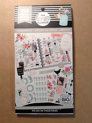 "NEW! me & my big ideas the happy PLANNER ""FARMHOUSE"" Sticker Book - 715 Pieces"