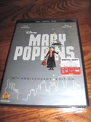 Mary Poppins: Disney 50th Anniversary Edition DVD) New Y-FOLDED Sealed Fast Ship