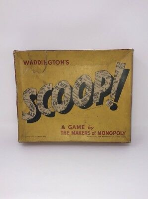 ***Spare Parts*** for Vintage Waddingtons SCOOP BOARD GAME 1955 USED