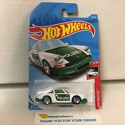 '71 Porsche 911 #122 * Green/White * 2019 Hot Wheels Case E