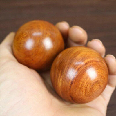 1Pc Chinese Ying Yang Wooden BALLS Exercise Stress Therapy Baoding Ball KV
