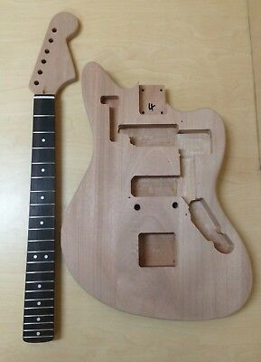 NO-SOLDERING Jazzmaster Style,Solid Mahogany Body Electric Guitar DIY-Full Kit!