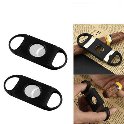 New Pocket Stainless Steel Double Cigarette Cigar Cutter Twin Blade Scissor Gift