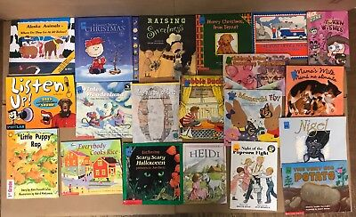 Lot of 20 K-5 Children Reading Bedtime-Story Time Kid BOOK Learn to Read MIX R88