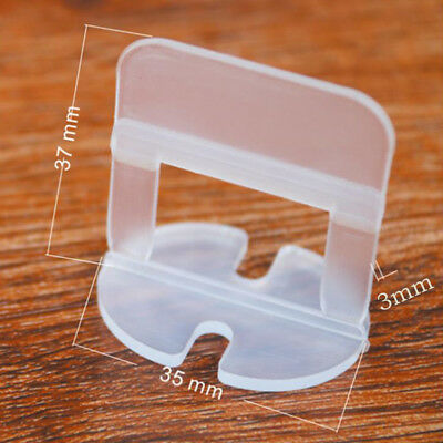 100Pcs/Set 3mm Tile Leveling System Spacer Clips Wall Flooring Level Lippage