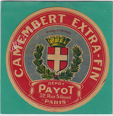 M47 Fromage Camembert Payot 32 Rue Sibuet Paris