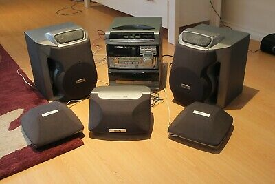 Philips surround sound stereo unit with triple CD changer