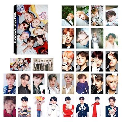 30pcs/set KPOP BTS Love Yourself Album Self Made Lomo Cards Trendy Available