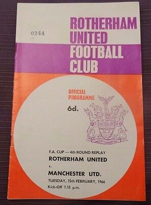 Rotherham United v Manchester United, FA Cup Round 4 Replay, 15 February 1966