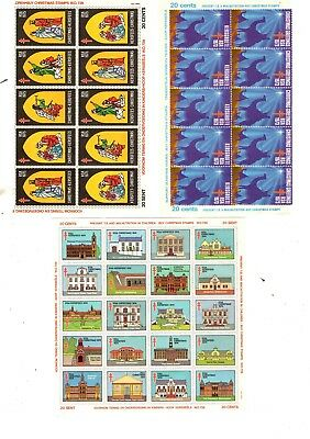 South Africa - small sheets of Xmas stamps/labels