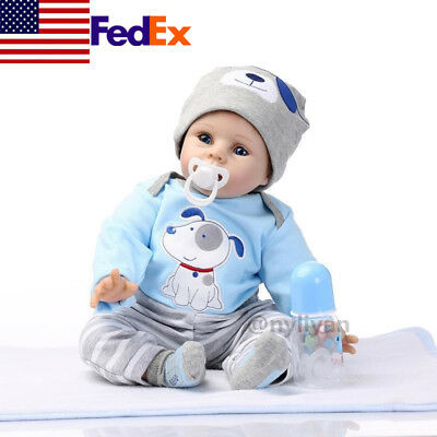 """22"""" Grow Up Lifelike Reborn Toddler Doll Realistic Baby Girl Toy Gift Present US"""