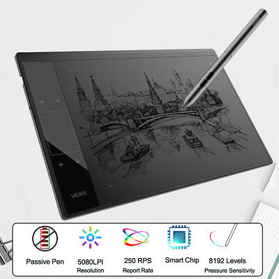 🇦🇺 VEIKK A30 10 x 6'' Digital Drawing Tablet & 8192 Levels Passive Pen 5080LPI