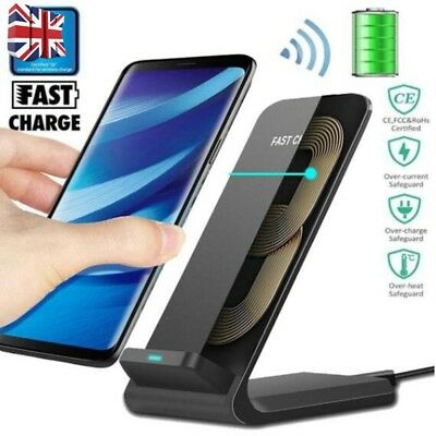 10W Wireless QI Fast Charger Charging Stand Holder For iPhone X 8 Note 9 S9 Plus