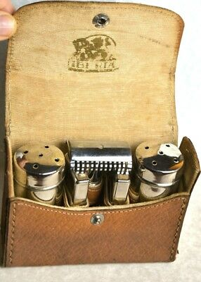 Old travel shaving case. Free shipping. Safety razor Iberia. Used. Afeitar.