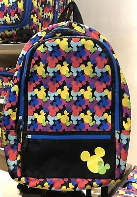 Colorful Mickey Icon Large Backpack Disney World Theme Parks NWT