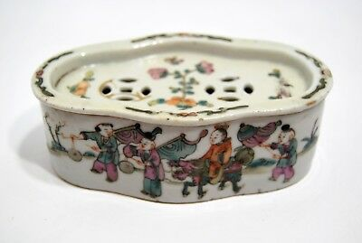 BOX FOR GRILLON porcelain CHINA xixth stamped signature 4 characters