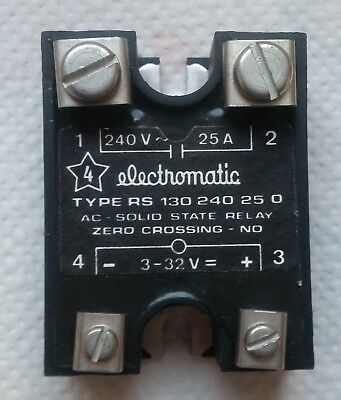 Electromatic Solid State Relay Type RS 130 240 25 0