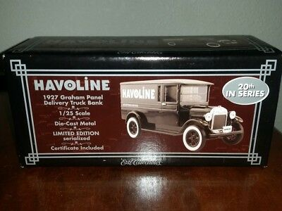 Havoline 1927 Dodge Graham Panel Delivery Truck Bank by Ertl new in the box 2003