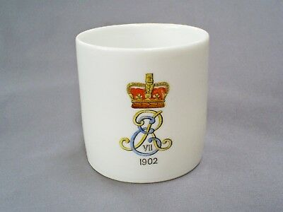 1902 Antique King Edward Vii Coronation Mug With Lithophane Portrait Base