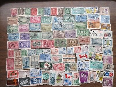 90  early issue CANADA STAMPS  (lot B )