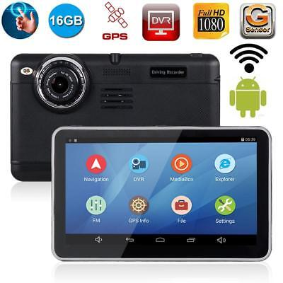 Android Car DVR Camera GPS Navigation Dash Cam Wifi Full HD 1080P 7 Inch Sat Nav