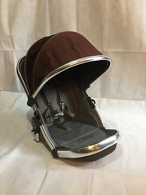 iCandy Peach 1 2 3 Main Seat Unit In Black Jack Chrome Fits Jogger
