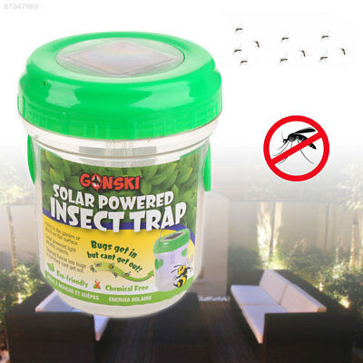F329 Portable Solar Mosquito Trap Mosquito Killing Lamp Lights Insect Control
