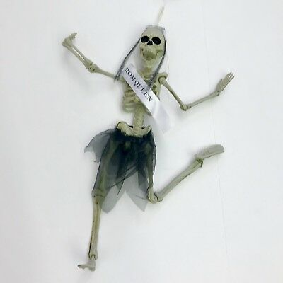 Hanging Skeleton Decoration Prom Queen16in Jointed Halloween Poseable Plastic