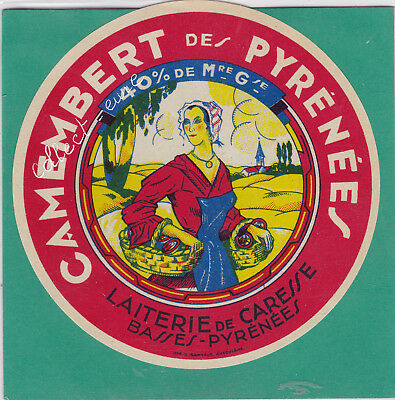 M63 Fromage Camembert Des Pyrenees Caresse Basses Pyrenees Paniers