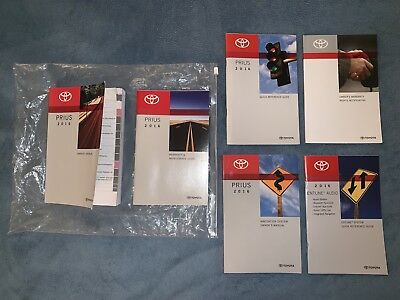 2016 Toyota Prius Owners Manual Set + NAV & Entune Audio Books-Fast Free Ship!
