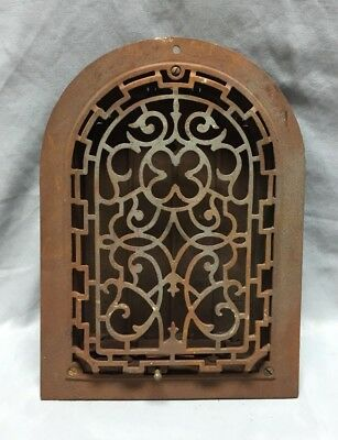 Antique Cast Iron Arch Gothic Heat Grate Wall Register 8X12 Dome Vtg  61-19D