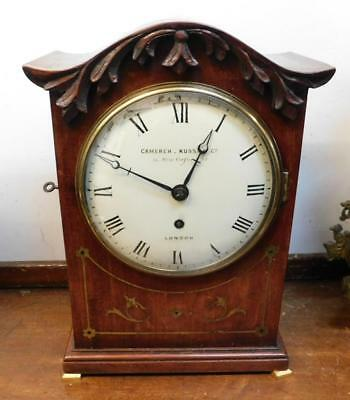 mahogany inlaid fusee bracket clock by camerer cuss
