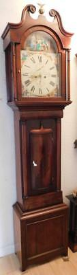 pretty mahogany cased 8 day longcase clock