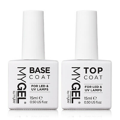 Mylee MYGEL Top Base Coat UV LED Soak-Off Gel Nail Polish Manicure 2x10ml Bottle