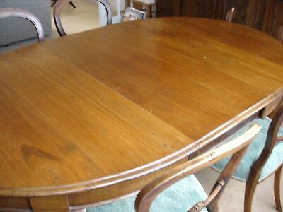Victorian Mahogany Wind Out Extending Dining Table and 6 Chairs claw ball